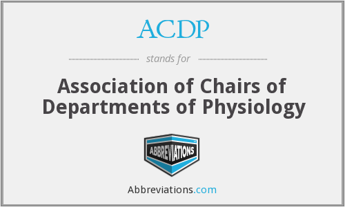 ACDP - Association of Chairs of Departments of Physiology