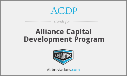 ACDP - Alliance Capital Development Program