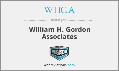 WHGA - William H. Gordon Associates