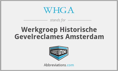 WHGA - Werkgroep Historische Gevelreclames Amsterdam