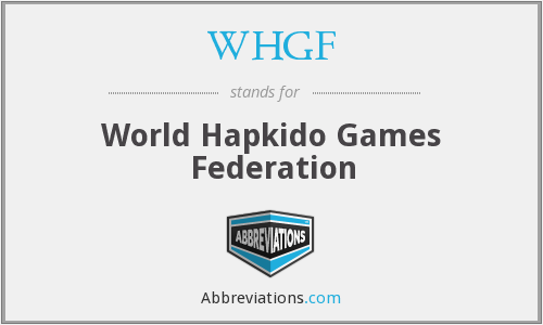 WHGF - World Hapkido Games Federation