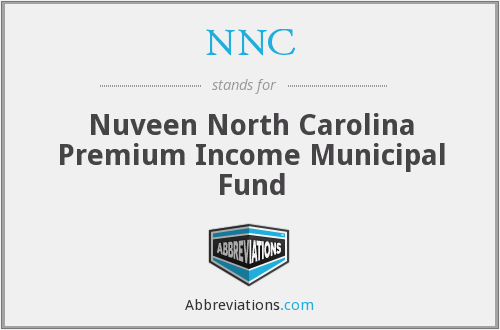 NNC - Nuveen North Carolina Premium Income Municipal Fund