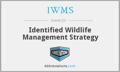 IWMS - Identified Wildlife Management Strategy