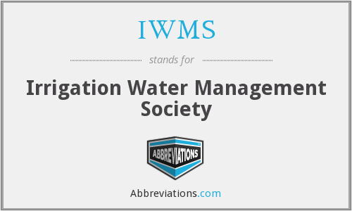 IWMS - Irrigation Water Management Society
