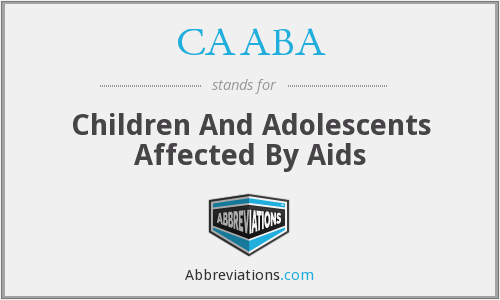 CAABA - Children And Adolescents Affected By Aids