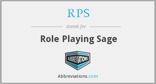RPS - Role Playing Sage