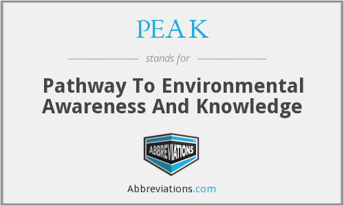 PEAK - Pathway To Environmental Awareness And Knowledge