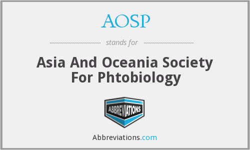 AOSP - Asia And Oceania Society For Phtobiology