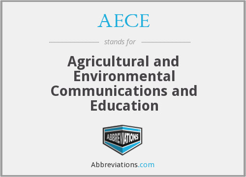 AECE - Agricultural and Environmental Communications and Education