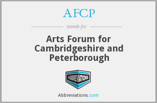 AFCP - Arts Forum for Cambridgeshire and Peterborough