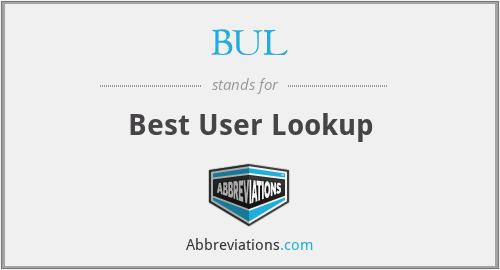 BUL - Best User Lookup