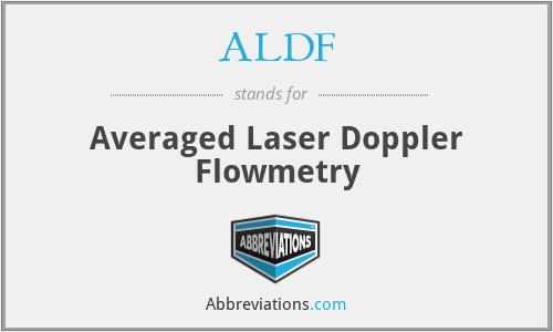 ALDF - Averaged Laser Doppler Flowmetry