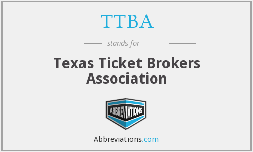 TTBA - Texas Ticket Brokers Association