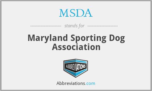 MSDA - Maryland Sporting Dog Association