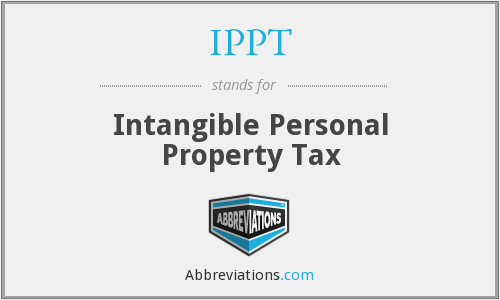 IPPT - Intangible Personal Property Tax