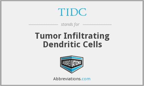 TIDC - Tumor Infiltrating Dendritic Cells