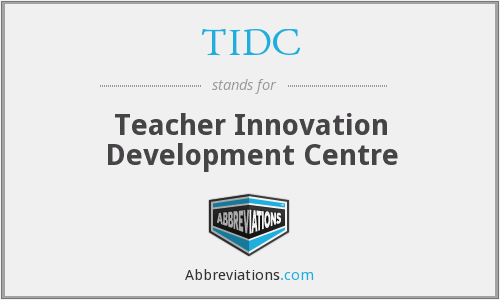 What does TIDC stand for?