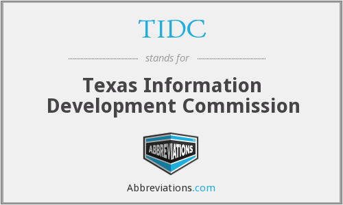 TIDC - Texas Information Development Commission