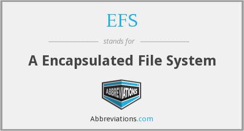 EFS - A Encapsulated File System