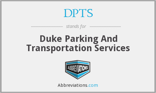 DPTS - Duke Parking And Transportation Services