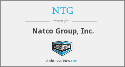 NTG - Natco Group, Inc.