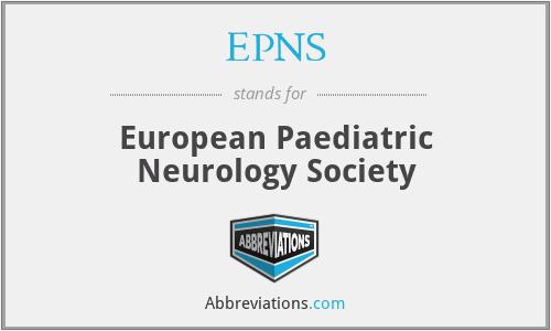 EPNS - European Paediatric Neurology Society