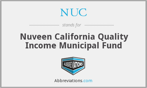 NUC - Nuveen California Quality Income Municipal Fund
