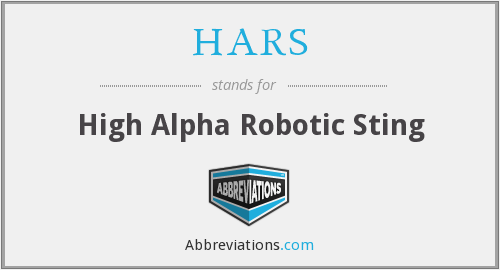 HARS - High Alpha Robotic Sting