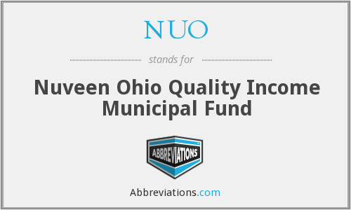 NUO - Nuveen Ohio Quality Income Municipal Fund