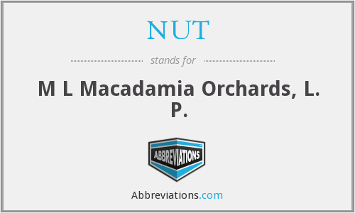 NUT - M L Macadamia Orchards, L. P.