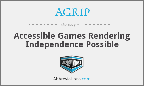 AGRIP - Accessible Games Rendering Independence Possible