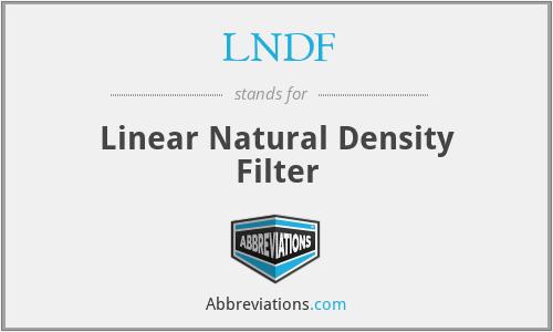 LNDF - Linear Natural Density Filter