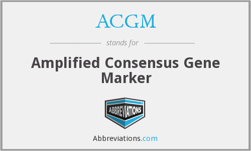 ACGM - Amplified Consensus Gene Marker