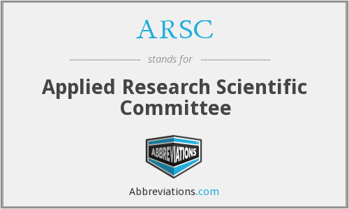 ARSC - Applied Research Scientific Committee
