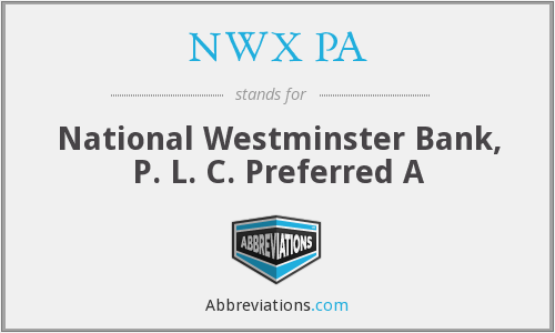 What does NWX PA stand for?