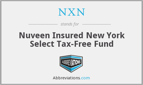NXN - Nuveen Insured New York Select Tax-Free Fund