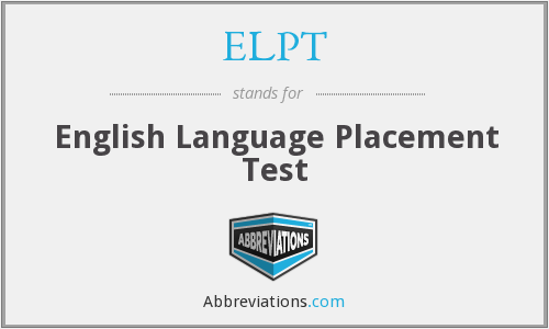 ELPT - English Language Placement Test