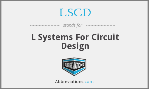 LSCD - L Systems For Circuit Design