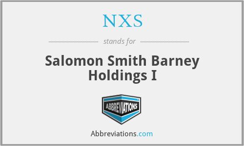 ebe7ba55081c NXS - Salomon Smith Barney Holdings I