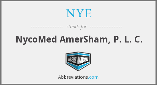 NYE - NycoMed AmerSham, P. L. C.