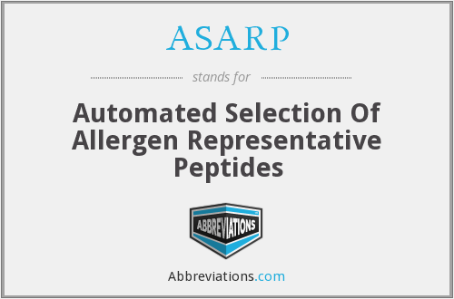 ASARP - Automated Selection Of Allergen Representative Peptides