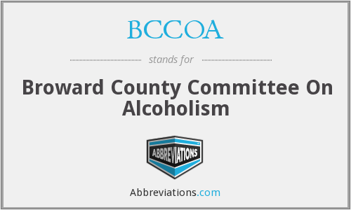 BCCOA - Broward County Committee On Alcoholism
