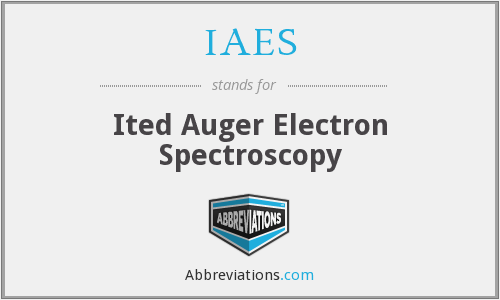 IAES - Ited Auger Electron Spectroscopy