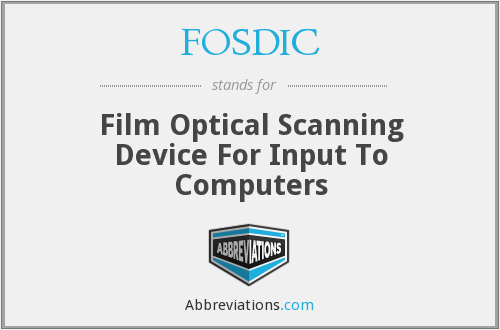 What does FOSDIC stand for?