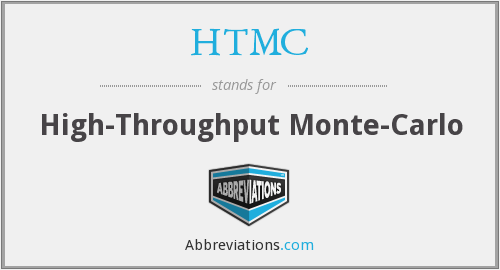HTMC - High-Throughput Monte-Carlo