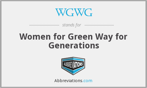 WGWG - Women for Green Way for Generations