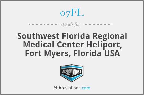 07FL - Southwest Florida Regional Medical Center Heliport, Fort Myers, Florida USA