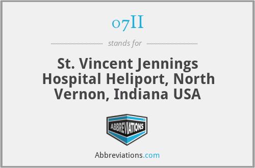 07II - St. Vincent Jennings Hospital Heliport, North Vernon, Indiana USA