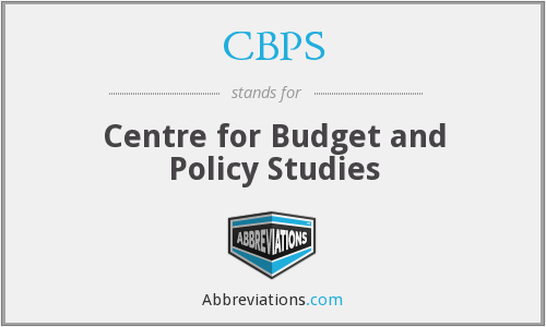 CBPS - Centre for Budget and Policy Studies