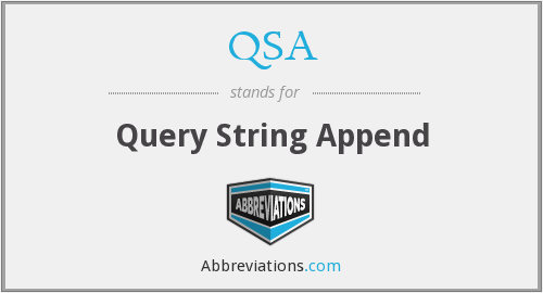 QSA - Query String Append